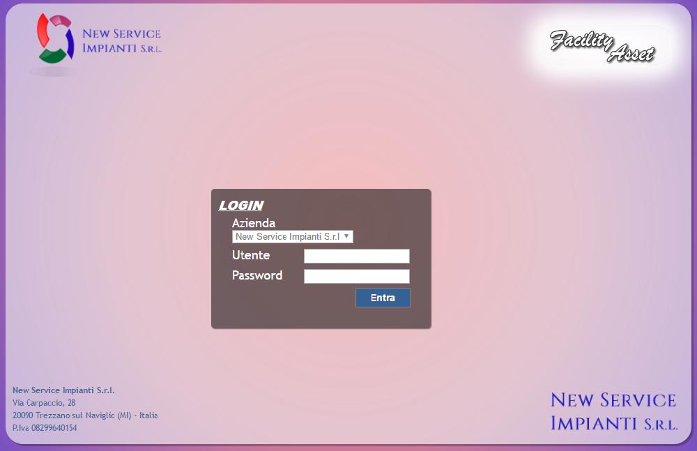 facility asset login page
